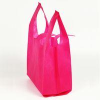 Многоразовая сумка для покупок конфеты цвет нетканые материальные сумки складные корзины для продвижения / подарка / обувь / из хризма
