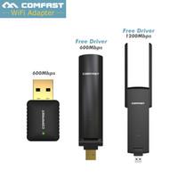 COMFAST USB 무선 랜 어댑터 600mbps ~ 1200mbps 802.11ac / b / g / n 2.4G + 5.8G 듀얼 밴드 와이파이 동글 컴퓨터 AC 무선 네트워크 카드
