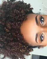 Arbeiten Sie menschliches Haar Afrochignon für Mädchen des kleinen Mädchens des Kursteilnehmers verworrenen gelockten Pferdeschwanz für schwarzes Mädchen USA Großbritannien um
