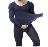 1 مجموعة الملابس الشتوية الساخنة رجل دافئ جيد مرنة التخسيس ملابس داخلية سوداء رقيقة جدا ضوء طويل جونز