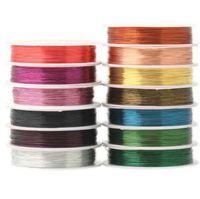 QIWAN 0.3 мм 20 м/рулон медный провод смешанный многоцветный покрытием бисероплетение проволока ювелирные изделия выводы DIY ювелирные изделия аксессуары шнур/строка