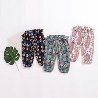 جديد وصول الطفل ملابس الصيف بنات بوهيميا زهرة طباعة كل مباراة 100٪ ٪ مكافحة البعوض طفلة بانت فانوس