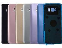 Epacket S8 Batterie Hintertür Gehäuse Glasabdeckung Für Samsung S8 S8 plus G950 G955 mit Anhaftender Aufkleber