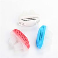 Novo 2em1 Anti Parar Ronco Ronco Magnético anti Silicone Ronco Purificador de Ar Stopper Sleep Dispositivo de Cuidados de Saúde de Sono com Caixa de Varejo
