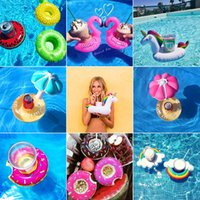 Mini Water Coasters boia Flamingo Flottant porte-gobelet gonflable Piscine boisson float jouet coupe stand Eau