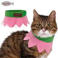 613cbcf17 Collar del pañuelo del gato del diseño de la flor Sombrero lindo de la  bufanda del rosa de la decoración del perro del perrito