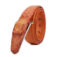 3,5 centimetri Mens Cinture cinghia di cuoio uomini di alta qualità Cintura Homme Crocodile Cinturones Hombre 2018 donne Cinture