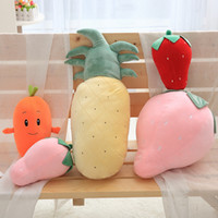 Strawberry Pineapple Carrot Turnip 3D Plush Doll Stuffed Fru...