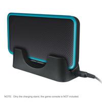Estación de muelle de soporte de carga de cable de cargador de plástico 1M de ABS para Nintendo 2DS LL XL Nuevo soporte de cargador de consola