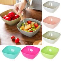 Toptan Gıda Sınıfı Plastik Kare Meyve Tabağı Salata Kase Kavun Meyve Tabağı Küçük Aperatif Şeker Çanak Kurutulmuş Meyve Kase Ücretsiz DHL WX9-339