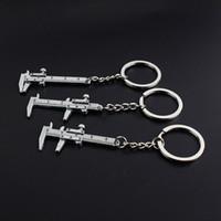 새로운 패션 자동차 열쇠 고리 미니 버니어 열쇠 고리 캘리퍼스 키 체인 자동차 터보 열쇠 고리 열쇠 고리