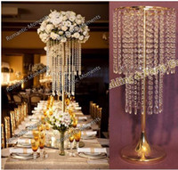 Wholesale crystal chandelier table centerpieces buy cheap crystal 8 photos wholesale crystal chandelier table centerpieces quot h wedding crystal table centerpiece gold flower stand wedding aloadofball Image collections