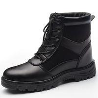 جديد أحذية الشتاء التأمين العاملة الرجال عالية اصبع القدم الأدوات الصلب قبعات ثقب موقع اللحام الأحذية تحطيم المضادة للسلامة الأحذية الدافئة الباردة