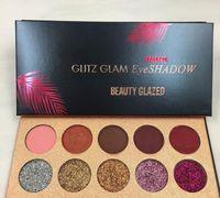 Yeni Güzellik Sırlı Glitz Glam 10 Renkler Glitter göz farı Sequins Paleti Göz Farı Fosforlu Pırıltılı Güzellik Makyaj Marka DHL kargo