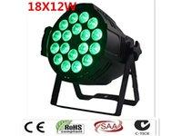 LED par 18x12W RGBW 4en1 Quad LED Par Can Par64 llevó el proyector de luz luz de la etapa de iluminación dj proyector de lavado