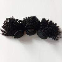 تصدير الأفرو البرازيلي العذراء الشعر غريب مجعد الطبيعي الأسود 100 جرام / قطعة 3 قطعة / الوحدة إبقاء مقياس الشعر لا الكيميائية حياة طويلة لينة وناعمة