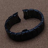 Bracelets de montre en céramique noire pour les hommes d'extrémité courbée spéciale aR 1452 haute qualité boucle noire bracelet de mode montre bracelet bracelets nouveau