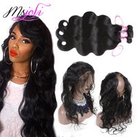 9A Brazilian Virgin Hair 360 Lace Frontal With Bundles With ...