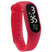 Moda Hombres Mujeres Casual Deportes Pulsera Relojes Blanco LED Electrónico Digital Color Caramelo de Silicona Reloj de pulsera para Niños Niños