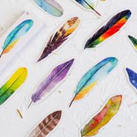 30 stks Kleurrijke Veer Papier Bookmark Creative Book Mark Leuke Kawaii Bladwijzer voor meisjes Gift Briefpapier Kantoor schoolbenodigdheden