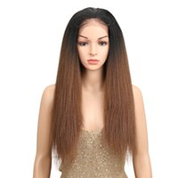 "Free Parting 1b 30# Ombre Brown 26"" Long Straight Synth..."