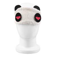 Mignon Panda Dormir Visage Masque Pour Les Yeux Bandeau Eyeshade Voyager Sommeil Eye Aid Aide Drop Shipping En Gros