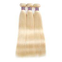 منتجات جديدة وصول 613 حزم شقراء بيرو مستقيم الشعر البشري 10 بوصة إلى 28 بوصة ريمي الشعر البرازيلي نسج شحن مجاني