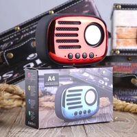 Altavoces de radio retro clásicos Mini altavoz inalámbrico portátil inalámbrico Bluetooth FM disco U TF Manos libres al aire libre Subwoofer Reproductor de MP3 A4