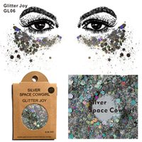 GL06 Silver Space Cowgirl Chunky Corps Glitter Paillettes Glitter Visage Glitter Festival Beauté Corps Maquillage