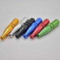 69mm Zepplin torpedo vorm metalen roken pijp aluminium tabak sigaret hand filter grappige buizen 5 kleuren gereedschap accessoires