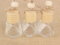 Uçucu Yağlar Yayıcı Parfüm için Temizle Parfüm Şişesi Araba Asma Parfüm Süs Oda Parfümü Cam DHL Kargo Şişe boşaltın
