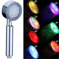 새롭고 다채로운 휴대용 7Color LED 로맨틱 라이트 워터 목욕 홈 욕실 샤워 헤드 글로우