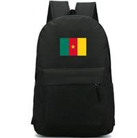 الكاميرون على ظهره أفريقيا CMR العلم daypack جمهورية المدرسية الوطنية البلد راية الظهر الرياضة حقيبة مدرسية في الهواء الطلق حزمة اليوم