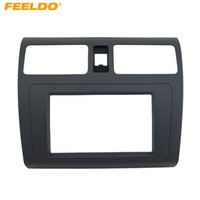 FEELDO voiture DVD / CD Radio stéréo fascia panneau Adaptateur cadre Kit de fixation pour SUZUKI Swift Noir # 4396