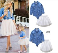 Mother Daughter Dresses long Sleeved Family Look Matching Cl...