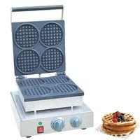 Qihang_top Ticari Kullanım yapışmaz 110 v 220 v Elektrikli Mini Yuvarlak Waffle makinesi Küçük Waffle Yapma Makinesi Fiyat