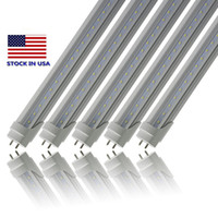 Stock en USA 4ft 22W 18W T8 Led Tube Light 2400lm Led iluminación Fluorescent Tube Lamp 1.2m LED tubos X100Pcs