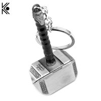 Punk Thor Hammer Keychain Alloy Ornaments Metal Pendant High...