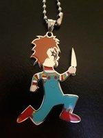 """Grande Juggalo Chucky Charm 2 1/2 in ICP Insane Clown Posse 30 """"collana a sfera in acciaio inossidabile gioielli lucidati ad alta accetta il fascino della personalità"""