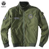 RUELK Trend  New Arrival Jacket Men Autumn High Quality Hot Sale Polyester  Style Pilot Jacket Mens Bomber Jacket