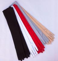 Heißer Verkauf 2018 neuer Artvollfinger lange Handschuhe Brautsatinhandschuhe im Freien UVschutzhandschuhe Hochzeitskleidzusätze shuoshuo6588