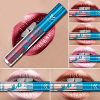 HUAMIANLI 12 Color Shimmer Liquid Lip Gloss Matte Batom Make...