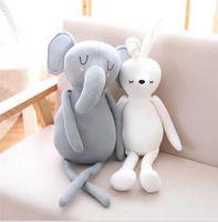 كبير kawaii الطفل مهدئا لعبة الفيل الأرنب حيوانات محشوة لينة القطيفة الاطفال استرضاء النوم وسادة دمية الأطفال الهدايا