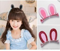 20 estilos lindos conejo gato oídos brotes princesa señora horquilla clip joyería niños tocado