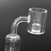NUEVO Fondo de 4 mm Parte superior Cuarzo Cuarzo Reactor Banger 10 mm 14 mm 18 mm Cuarzo Térmico de cuarzo Clavo para bongs de vidrio Tubos de agua de vidrio