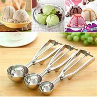 ¡¡¡Ventas!!! Cuchara de helado Mango de acero inoxidable Mango triturador Cookie Scoop Herramientas de cocina
