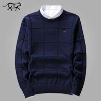 Сплошной цвет свитера мужчины o шеи пуловер мужчины с длинным рукавом мужской свитер повседневные платья мужской бренд кашемир проверить трикотаж человек тянуть L18100802