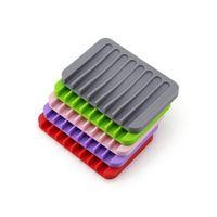 Neue Ankunfts-Seifenhalter-Silikon-Seifen-Teller-Plattenhalter-Tablett einzigartige Form-Overhead-Struktur für das einfache Ablassen