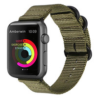 HXL Compatível para a Apple Watch Band, Nylon da OTAN iWatch Band Strap de Substituição para a Apple Watch 42mm / 38mm da Série 3, Series 2 e Series 1