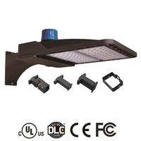 LED Ayakkabı Kutusu Otopark Işıkları 100 W 150 W 200 W IP66 UL DLC ile Su Geçirmez Açık Sokak Kutup Işık Listelenen Fotosel Sensörü Otomatik Açık / Kapalı